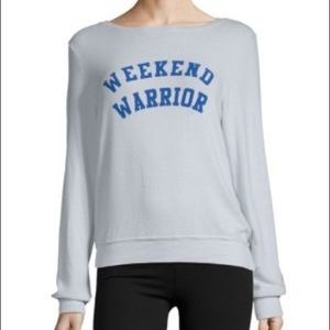 Wildfox Weekend Warrior Baggy Beach Jumper blue